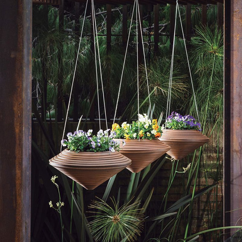 Daniel Hanging Planters with plants