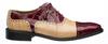 Mens Burgundy Alligator Shoes by Ferrini 203/528