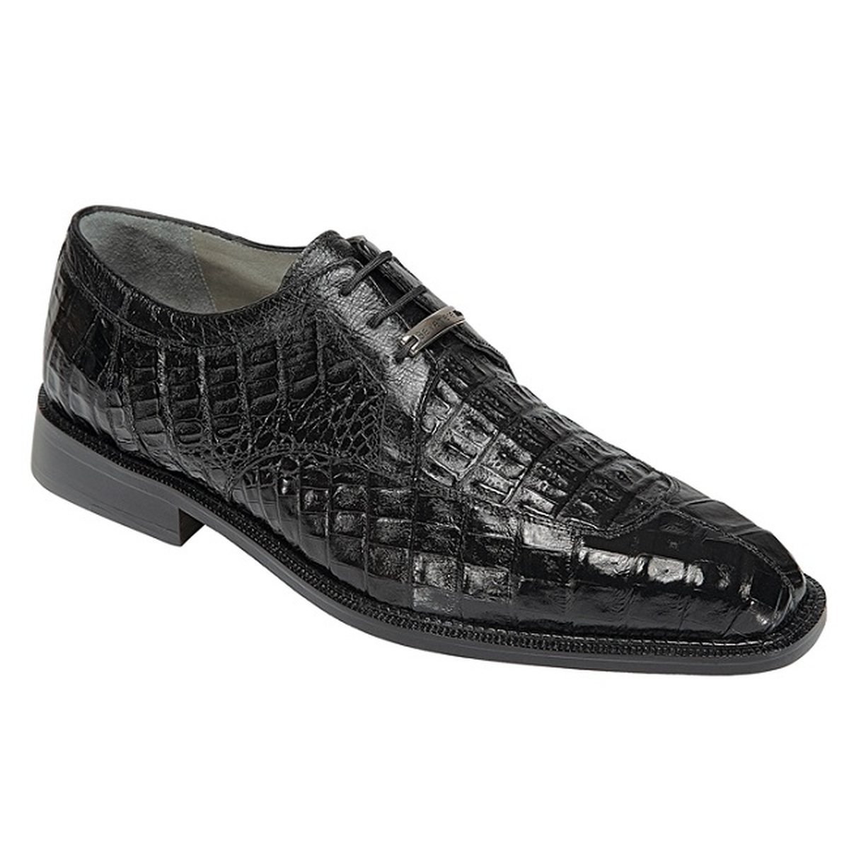 Belvedere Mens Crocodile Shoes Exotic Italian Black Oxford Susa P32