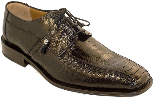 Mens Black Ostrich Shoes by Ferrini 204/528