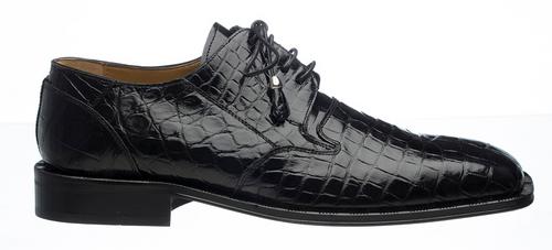Alligator Shoes Ferrini Men's Black Full Gator 205/528