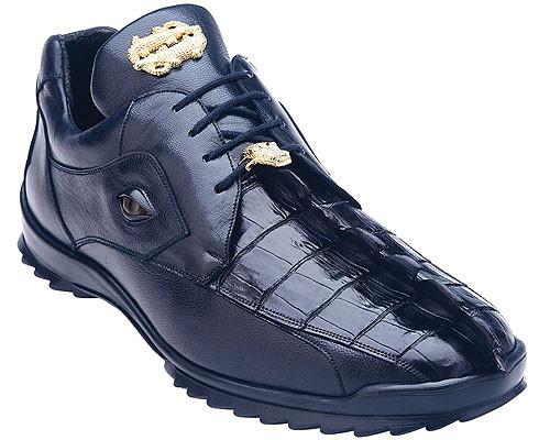 Belvedere Blue Hornback Crocodile Sneaker Vasco 336122