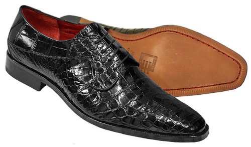 David Eden Genuine Black Alligator Shoes Fitipaldi