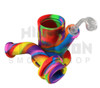 """Pulsar 9"""" Rip Silicone Rig w/ Quartz Banger - Tie Dye - Glow in the Dark (Out of Stock)"""