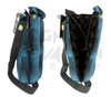 "Vatra 14"" Brand New Blue Plaid Waterpipe Pipe Case Tube Bag"