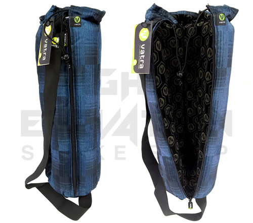 """Vatra 18"""" Brand New Blue Plaid Waterpipe Pipe Case Tube Bag"""
