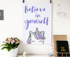 rainbow unicorn art print - motivational quote