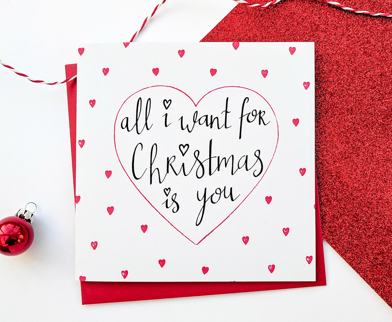 All I Want For Christmas Card Romantic Gift Kio Cards