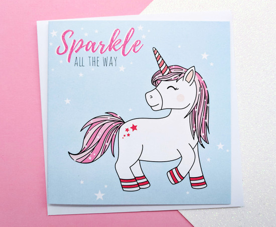 NEVE Unicorn Christmas Card
