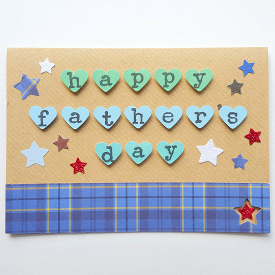 HAPPY FATHER'S DAY Tartan Stars Card