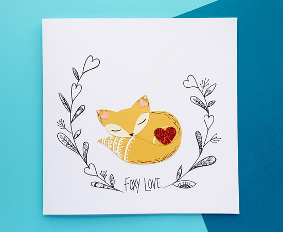 Personalised FOXY LOVE Anniversary Card