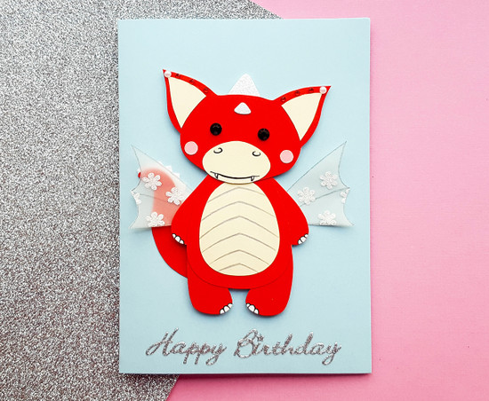 Personalised SUE Dragon Birthday Card