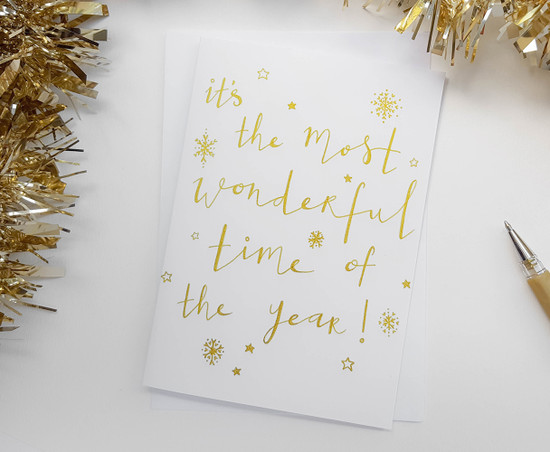MOST WONDERFUL TIME Christmas Card