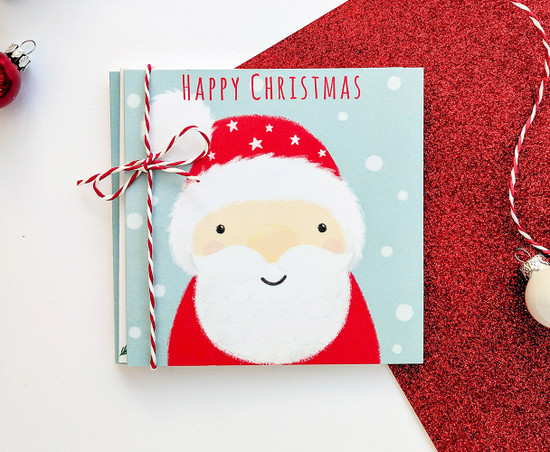 Multipack of 6 SANTA Christmas Cards