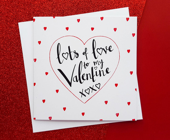 LOTS OF LOVE Valentines Card