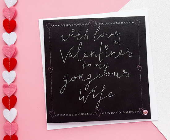 GORGEOUS WIFE Valentines Card