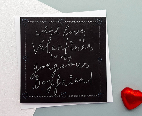 GORGEOUS BOYFRIEND Valentines Card