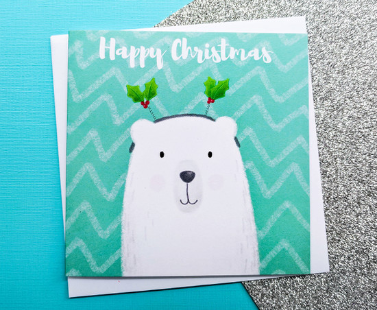 THEODOR Polar Bear Christmas Card