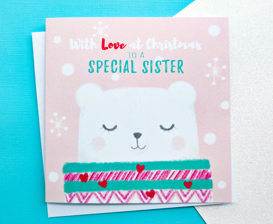 EVA Polar Bear - SISTER Christmas Card