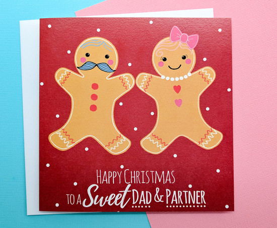 MR & MS Gingerbread - DAD & PARTNER Christmas Card