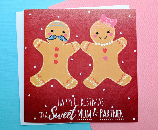 MR & MS Gingerbread - MUM & PARTNER Christmas Card