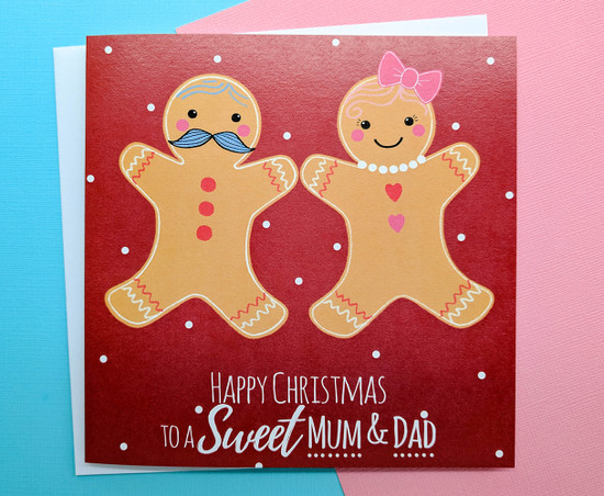 MR & MS Gingerbread - MUM & DAD Christmas Card