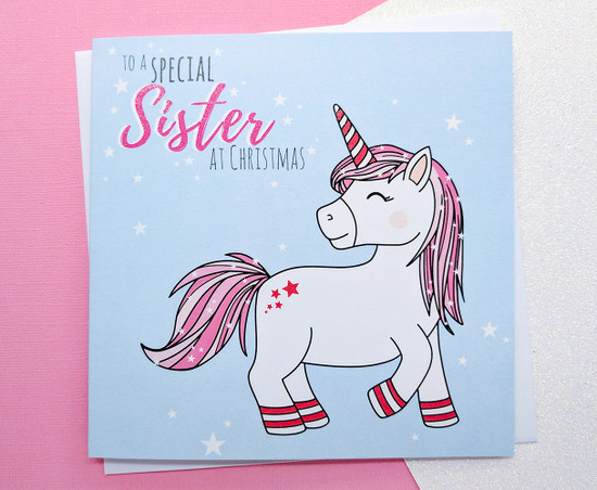 NEVE Unicorn - SISTER Christmas Card