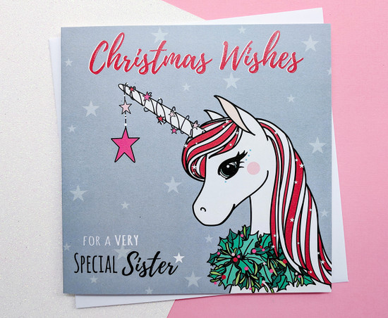 SEREN Unicorn - SISTER Christmas Card