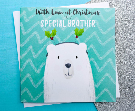 THEODOR Polar Bear - BROTHER Christmas Card