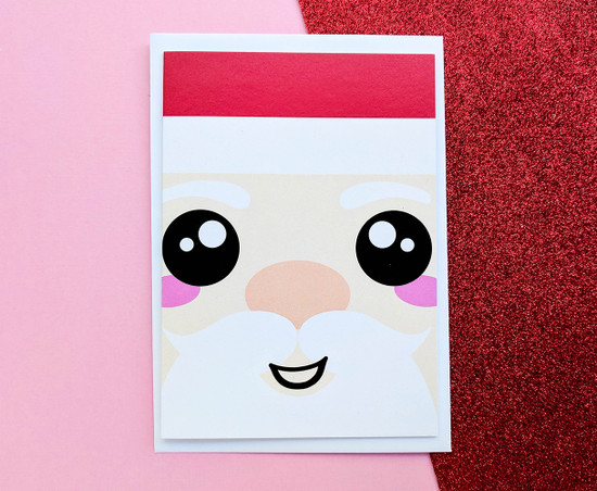 Kawaii Santa Christmas Card