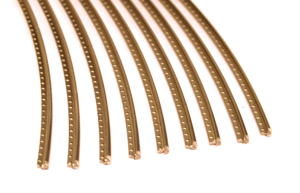Jescar Wide-Medium (47104) Gold EVO Fret Wire (6 ft)
