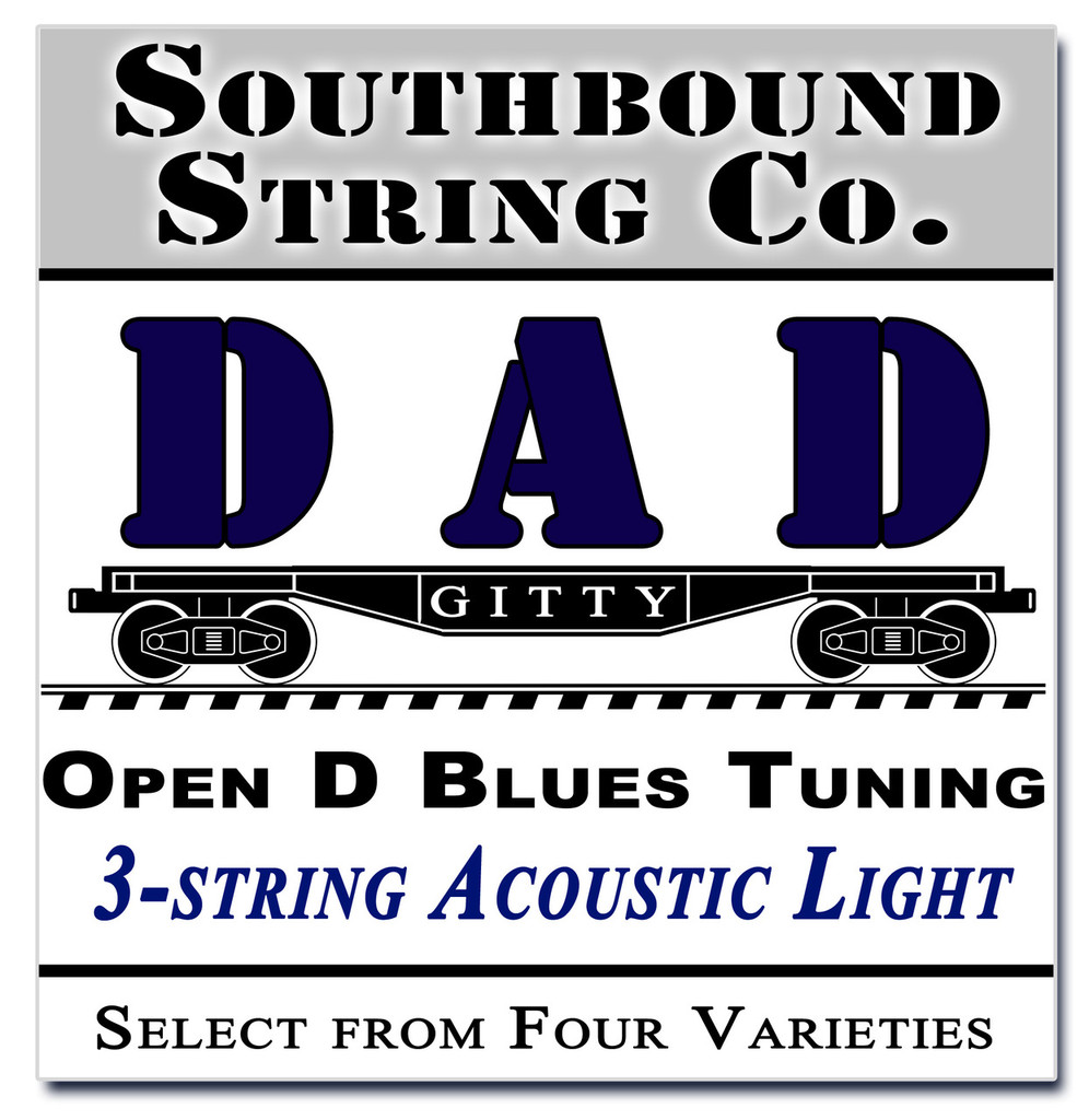 "3-String Open D ""DAD"" Modal/Blues String Sets - Choose from 4 Set Varieties!"