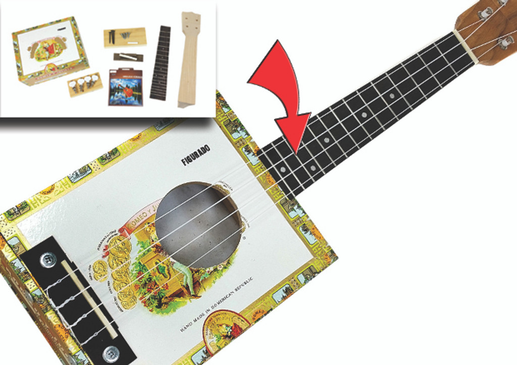 Cigar Box Ukulele DIY Kit - Everything Included - Download Instructions for Free!