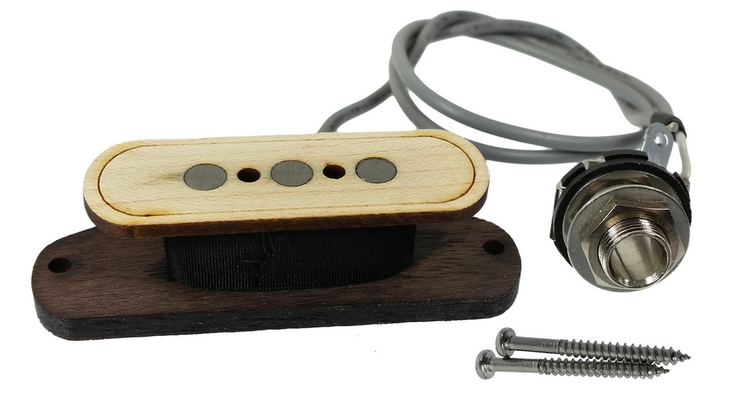 electric delta 3 pole electric cigar box guitar pickup by foundry tone no soldering c b. Black Bedroom Furniture Sets. Home Design Ideas