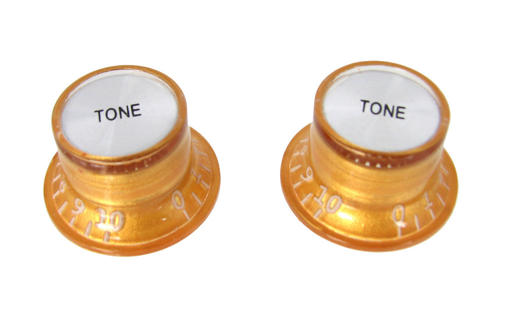 2pc. Gold Top-hat Style Acrylic Tone Knobs