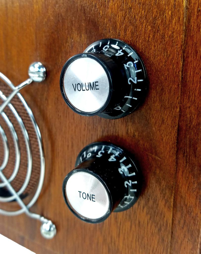 2pc. Black Top-hat Style Acrylic Volume Knobs