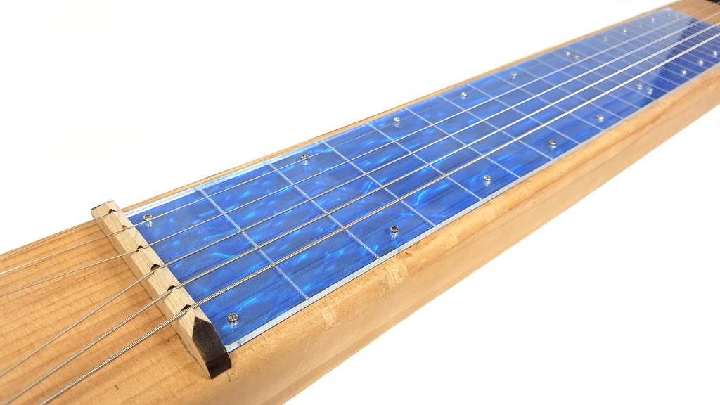 """Blue Moire Lap Steel (2.75"""") Acrylic Fretboard Underlay"""