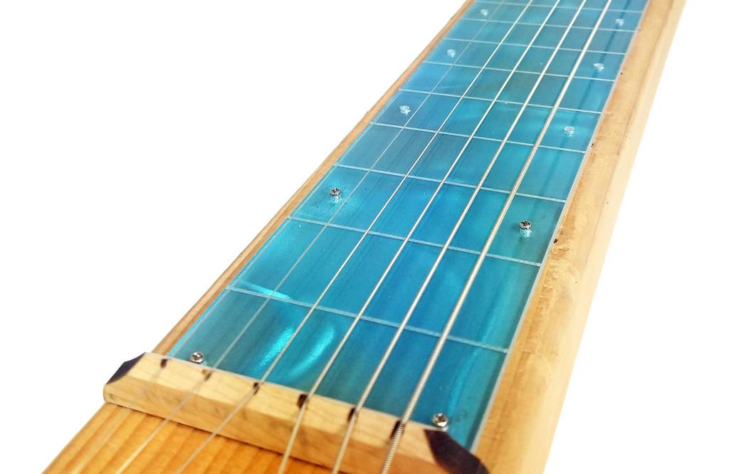 """Teal Swirl Lap Steel (2.75"""") Acrylic Fretboard Underlay"""