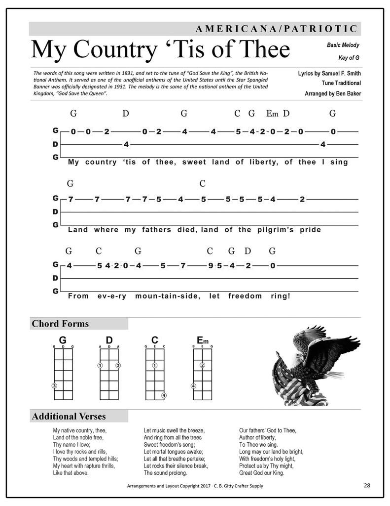 Ben Gitty's 3-string GDG Cigar Box Guitar Songbook  - Volume 1 (Printed Version)