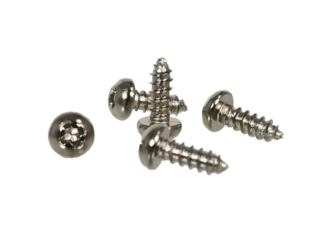 "100pc. #2 x 1/4"" Silver (Nickel-plated) Phillips Round-Head Screws"