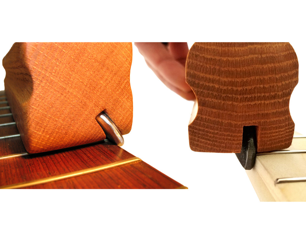 2pc. Fret Filing Tool Set - 35 and 90-Deg. angle files for an easy way to bevel and dress your frets!
