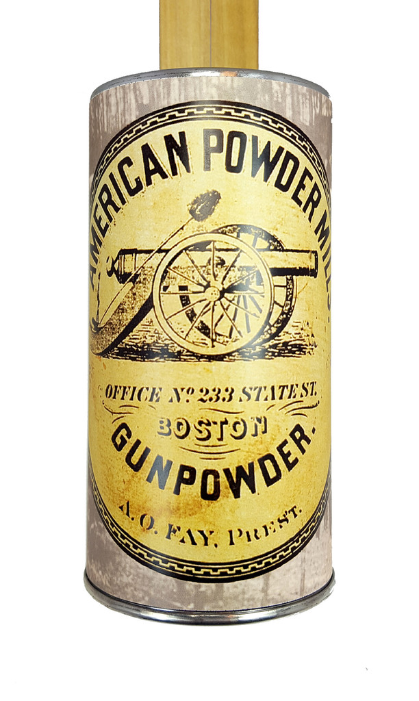 """Gunpowder Mill"" One-String Acoustic Canjo - Features Civil War-era Artwork"