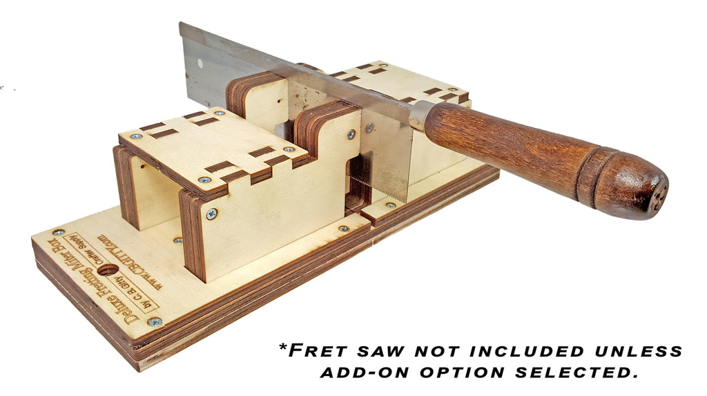 Deluxe Fretting Miter Box KIT - Cut Perfect Fret Slots in Necks and Fretboards!