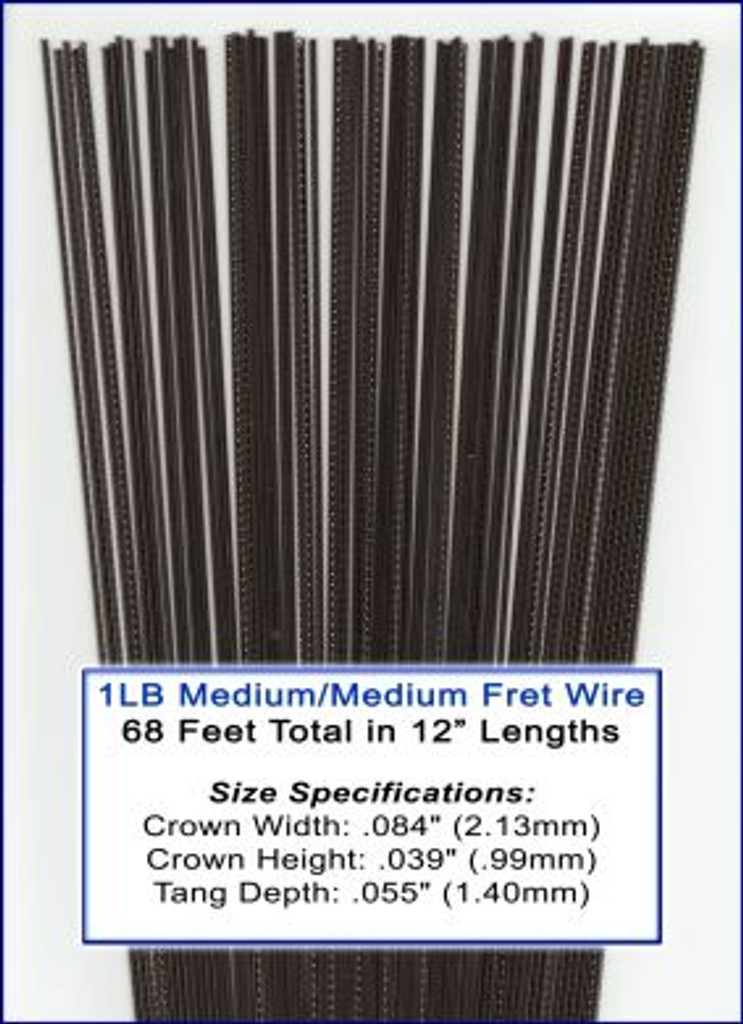 1lb bulk fret wire medium medium nickel silver c b gitty crafter supply. Black Bedroom Furniture Sets. Home Design Ideas