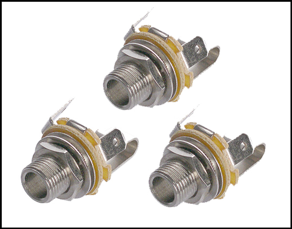 3-pack Neutrik 1/4-inch Mono Guitar Jacks