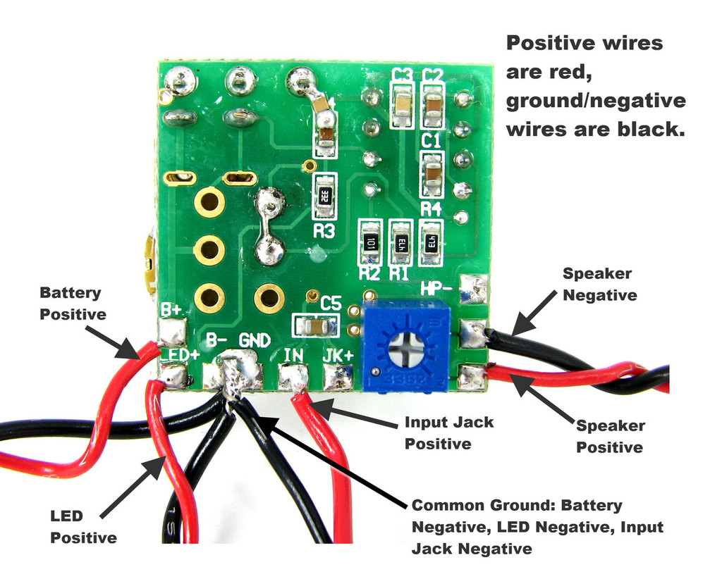 2 5W Artec Amp Circuit Board with Pre wired Leads C B