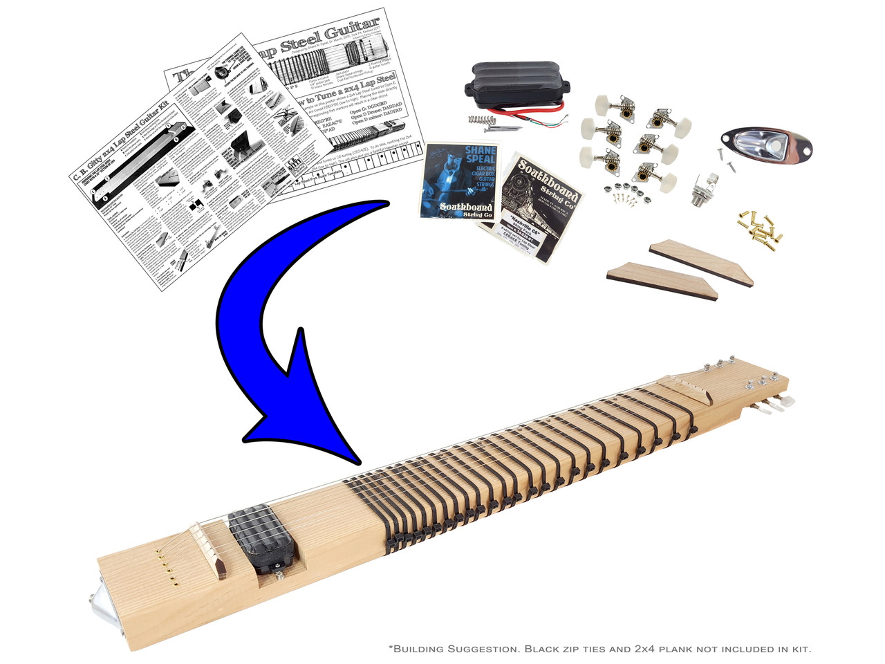 2x4 Lap Steel Guitar Kit The Diy Slide You Supply Doityourself How To Make A Circuit Board Pick Do It