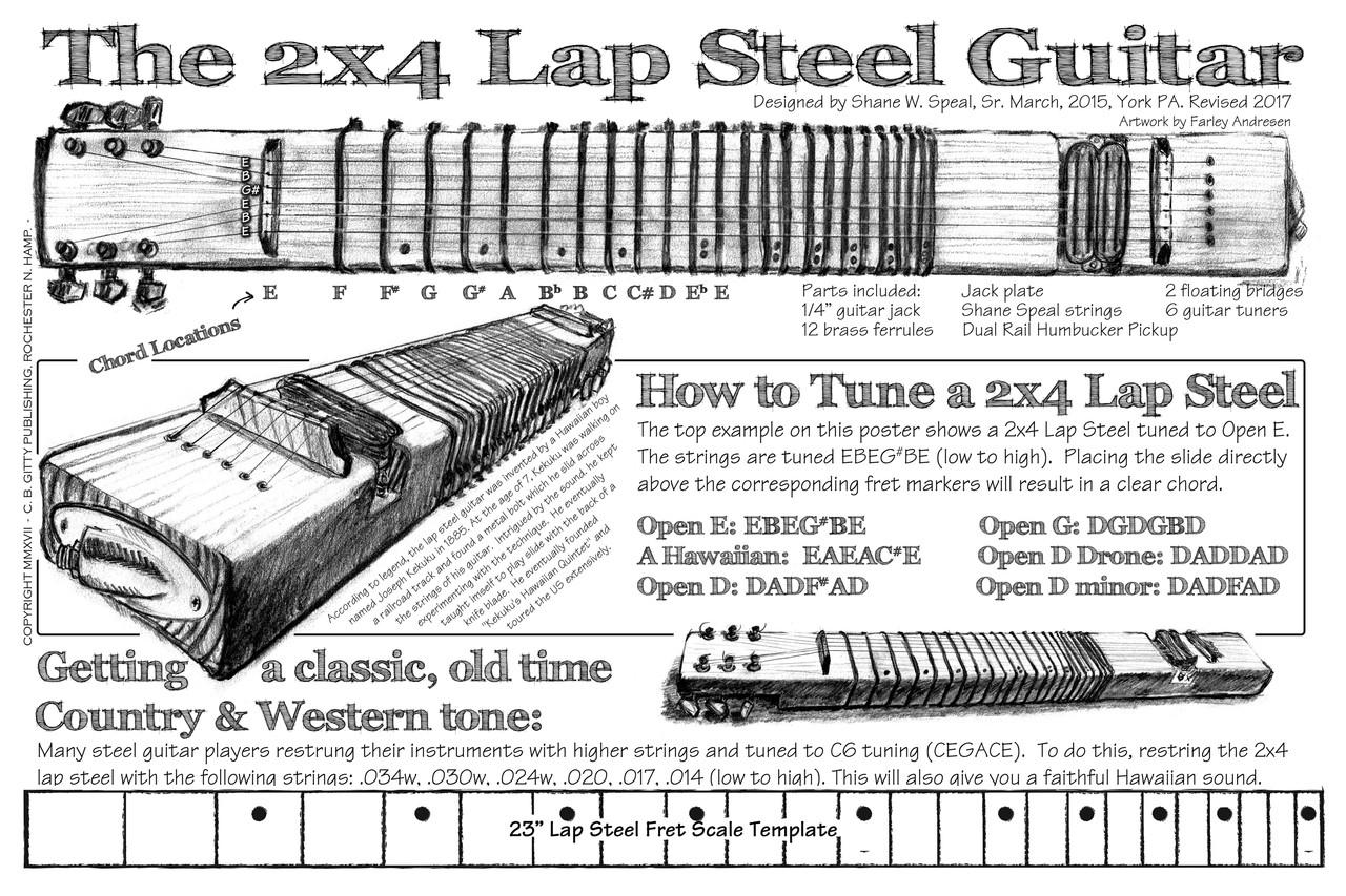 2x4 Lap Steel Guitar Kit The Diy Slide Guitar You Supply The 2x4