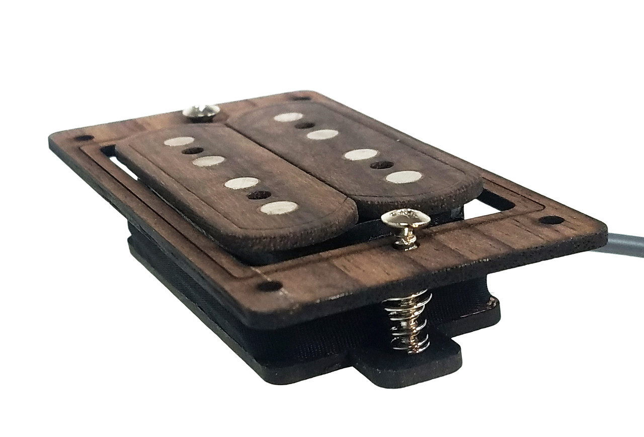 Deltabucker 4 String Rosewood Cigar Box Guitar Humbucker Pickup Pre Wiring Straight To Jack Wired With