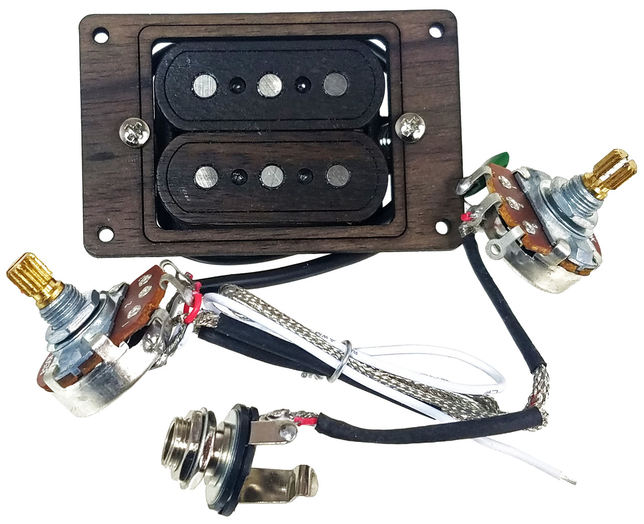 Deltabucker Deluxe 3 String Rosewood Cigar Box Guitar Humbucker Wiring Here Is A Quick Look At How Humbuckers Work And Pickup Pre Wired